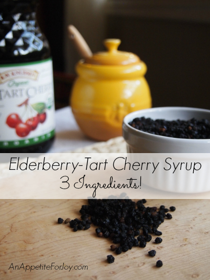 Elderberry-Tart Cherry Syrup from An Appetite For Joy